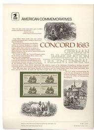 2040 20c The Concord USPS Cat. 186 Commemorative Panel cp186