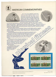 2043 20c Physical Fitness USPS Cat. 187 Commemorative Panel cp187