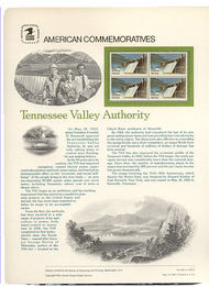 2042 20c Tennessee Valley USPS Cat. 189 Commemorative Panel cp189