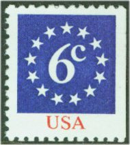 1892 6c Stars [from booklet] F-VF Mint NH 1892nh