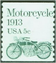 1899 5c Motorcycle Coil F-VF Mint NH 1899nh