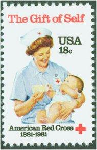 1910 18c American Red Cross F-VF Mint NH 1910nh