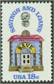 1911 18c Savings & Loan F-VF Mint NH 1911nh