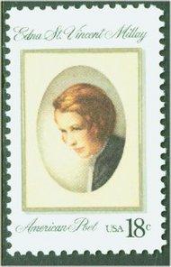 1926 18c Edna St. Vincent Millay F-VF Mint NH 1926nh