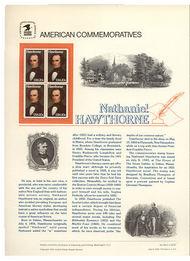 2047 20c Nathaniel Hawthorne USPS Cat. 194 Commemorative Panel cp194