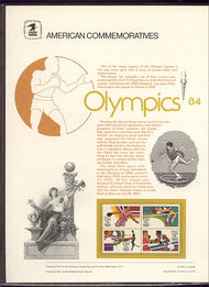 2048-51 13c Olympics USPS Cat. 195 Commemorative Panel cp195