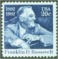 1950 20c Franklin D. Roosevelt F-VF Mint NH 1950nh