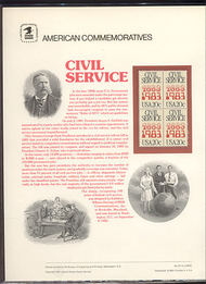 2053 20c Civil Service USPS Cat. 197 Commemorative Panel cp197
