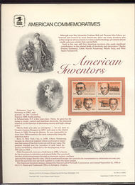 2055-58 20c American Inventors USPS 199 Commemorative Panel cp199