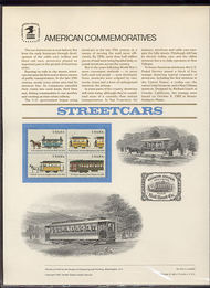 2059-62 20c Streetcars USPS Cat. 200 Commemorative Panel cp200