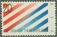 2003 20c U.S. Netherlands F-VF Mint NH 2003nh