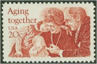 2011 20c Aging Together F-VF Mint NH 2011nh