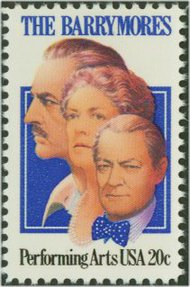 2012 20c The Barrymores F-VF Mint NH 2012nh