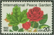 2014 20c International Peace Garden F-VF Mint NH 2014nh