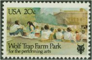 2018 20c Wolf Trap Farm Park Used 2018used