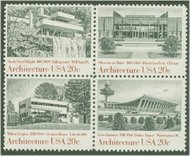 2019-22 20c Architecture 4 Singles F-VF Mint NH 2019sing