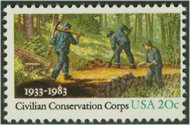 2037 20c Civilian Conservation Corps F-VF Mint NH 2037nh