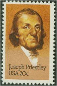 2038 20c Joseph Priestley F-VF Mint NH 2038nh
