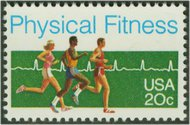 2043 20c Physical Fitness F-VF Mint NH 2043nh