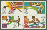 2048-51 13c Olympics Attached block of 4 F-VF Mint NH 2048nh