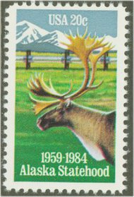 2066 20c Alaska 25th Anniversary F-VF Mint NH 2066nh
