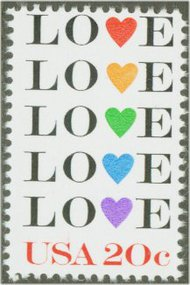 2072 20c Love F-VF Mint NH 2072nh