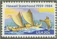 2080 20c Hawaii Statehood F-VF Mint NH 2080nh