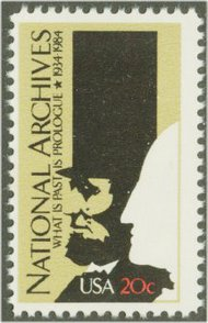 2081 20c National Archives F-VF Mint NH 2081nh