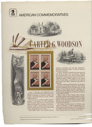 2073 20c Carter G. Woodson USPS Cat. 209  Commemorative Panel cp209
