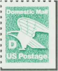 2113 (22c) D Stamp [from booklet] F-VF Mint NH 2113nh