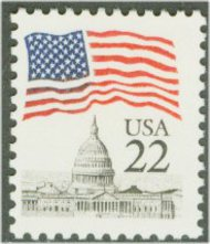 2114 22c Flag over Capitol F-VF Mint NH 2114nh