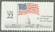2116 22c Flag over Capitol [from booklet] F-VF Mint NH 2116nh