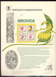 2076-79 20c Orchids USPS Cat. 212 Commemorative Panel cp212