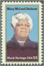 2137 22c Mary Mcleod Bethune F-VF Mint NH Plate Block of 4 2137pb