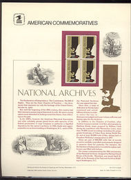 2081 20c National Archives USPS Cat. 214  Commemorative Panel cp214