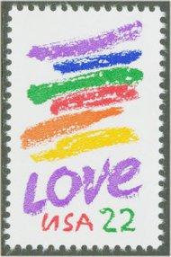 2143 22c Love F-VF Mint NH 2143nh