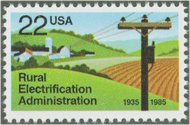 2144 22c Rural Electrification F-VF Mint NH Plate Block of 20 2144pb