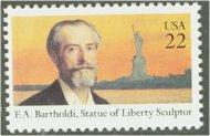 2147 22c Frederic Bartholdi F-VF Mint NH 2147nh