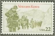 2152 22c Korean War Vets F-VF Mint NH 2152nh