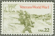 2154 22c World War I Vets Used 2154used