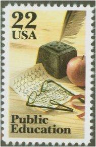 2159 22c Public Education F-VF Mint NH 2159nh
