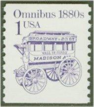 2225 1c Omnibus Reprint Coil F-VF Mint NH 2225nh