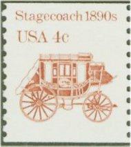 2228 4c Stagecoach Reprint Coil F-VF Mint NH 2228nh