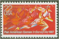 2247 22c Pan American Games F-VF Mint NH Plate Block of 4 2247pb
