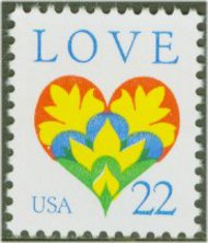 2248 22c Love F-VF Mint NH 2248nh