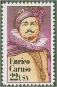 2250 22c Enrico Caruso F-VF Mint NH Plate Block of 4 2250pb