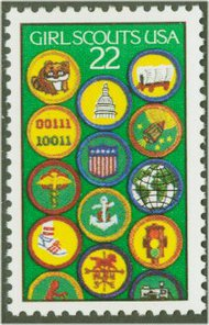 2251 22c Girl Scouts F-VF Mint NH 2251nh