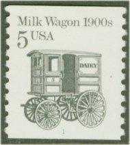 2253 5c Milk Wagon Coil F-VF Mint NH 2253nh