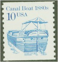 2257 10c Canal Boat Coil F-VF Mint NH 2257nh