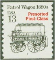 2258 13c Patrol Wagon Coil F-VF Mint NH 2258nh